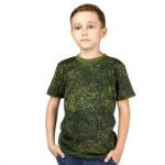 Детская футболка камуфляжная (цифра)