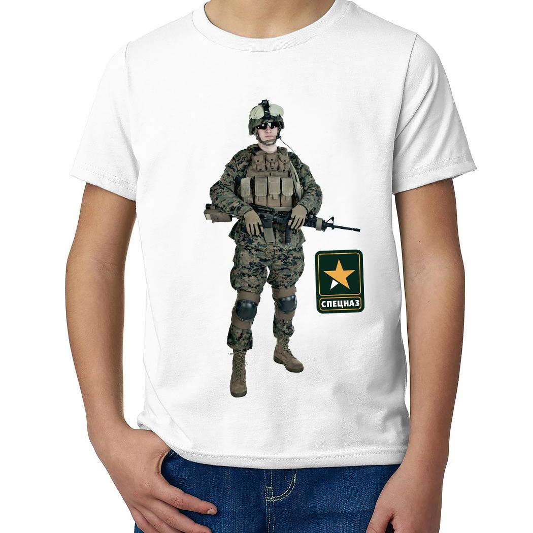 Детская футболка с принтом  Армейский спецназ