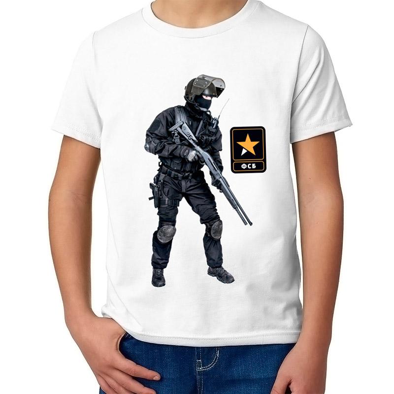 Детская футболка с принтом  ФСБ