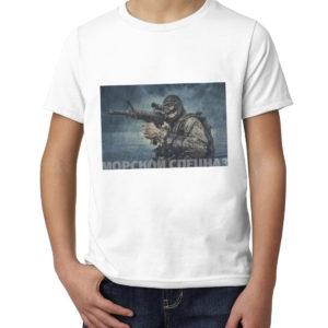 Детская футболка с принтом  Морской спецназ