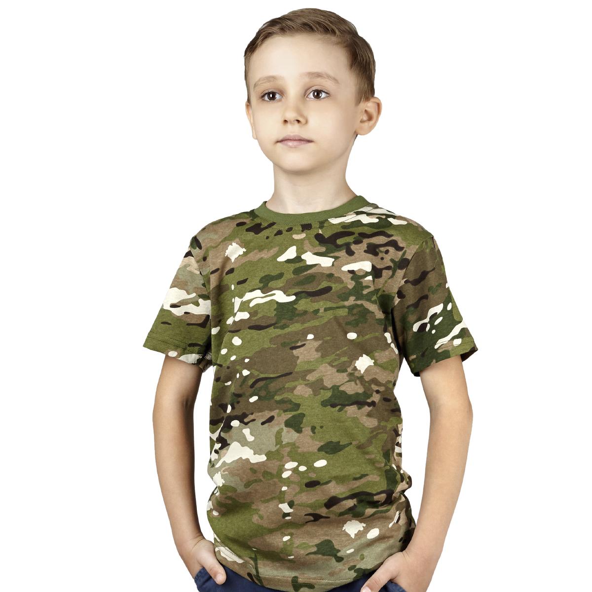 Детская футболка камуфляжная (мультикам)