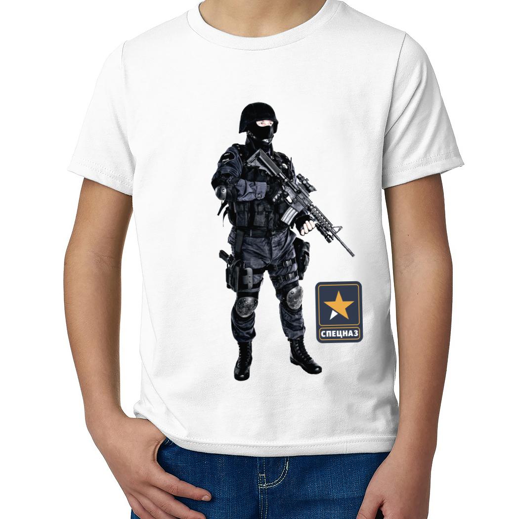 Детская футболка с принтом  Полицейский спецназ