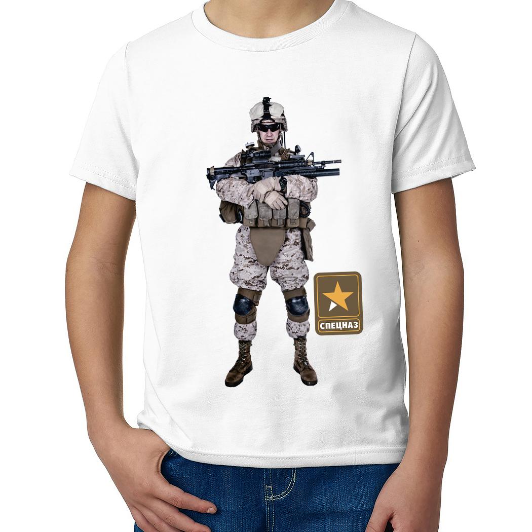Детская футболка с принтом  Спецназ Койот