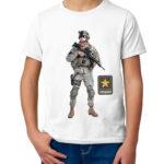 Детская футболка с принтом  Военная разведка