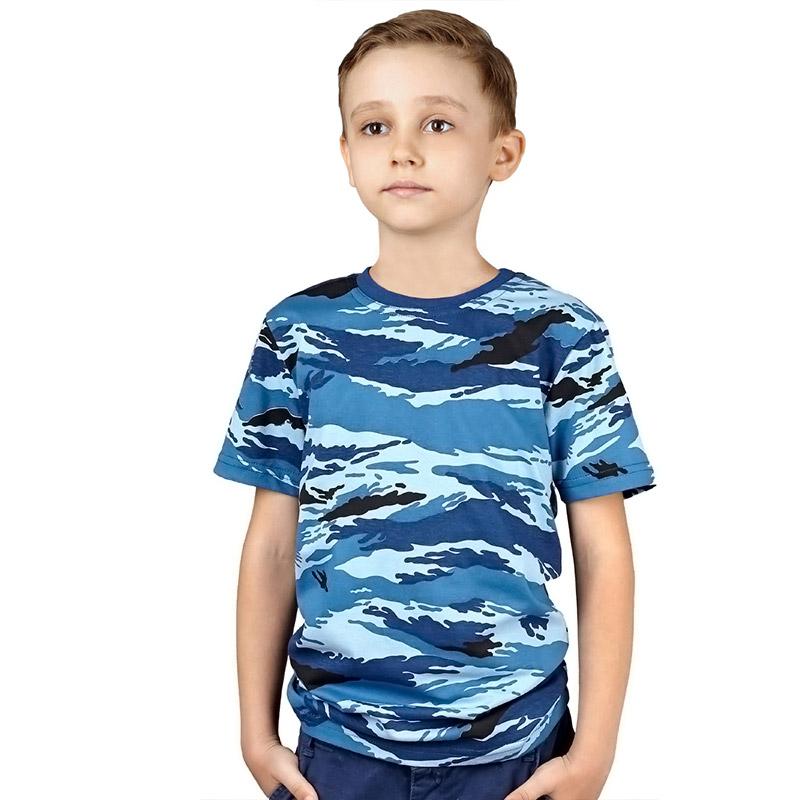 Детская футболка камуфляжная (камыш синий)