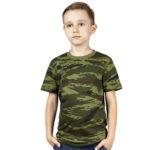 Детская футболка камуфляжная (камыш зеленый)