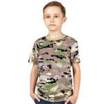 Детская футболка камуфляжная (ягель мультикам)