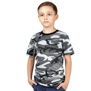 Детская футболка камуфляжная (НАТО серый)
