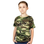 Детская футболка камуфляжная (НАТО зеленый)