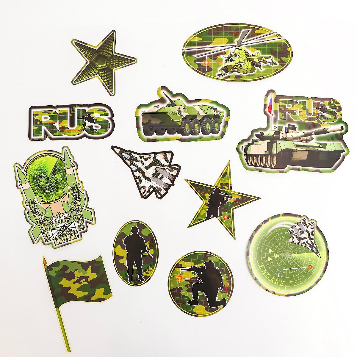 Военный декор детской спальни
