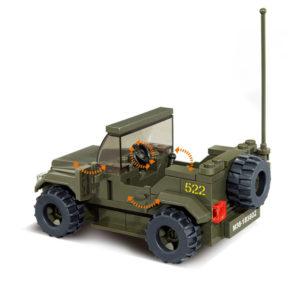 Военный конструктор  Джип (121 деталь)