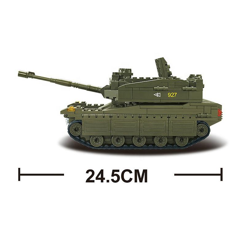 Военный конструктор  Танк Леопард (344 детали)