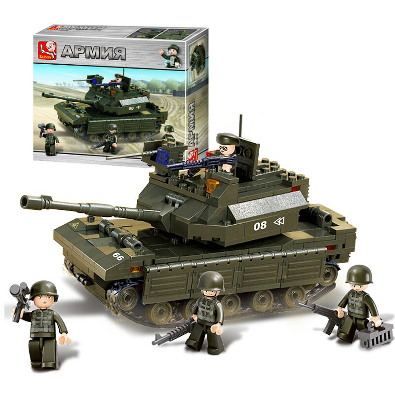 Военный конструктор  Танк Челенджер (312 деталей)