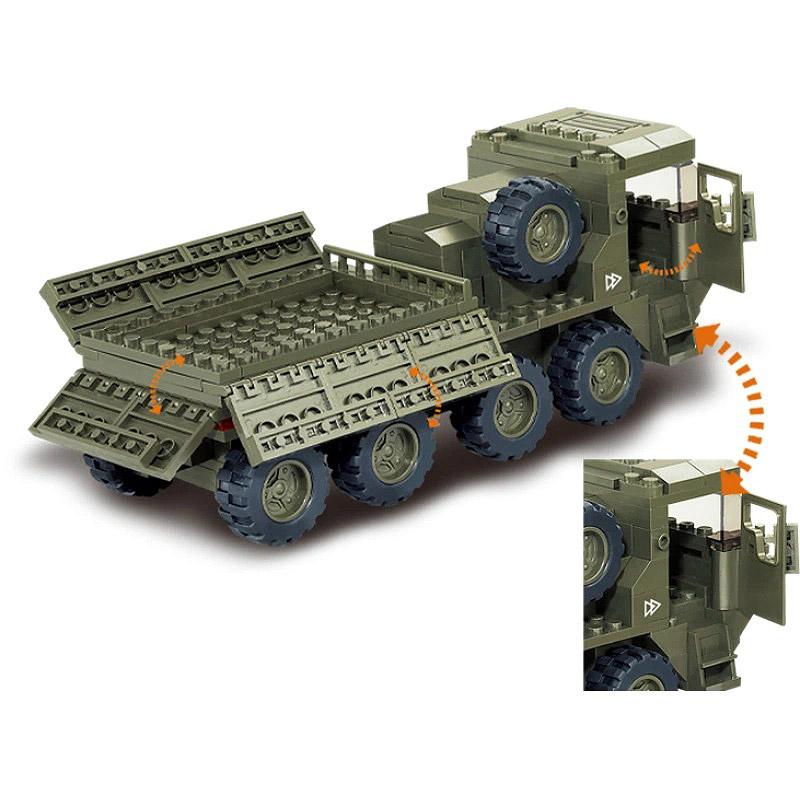 Военный конструктор  Транспорт (455 деталей)