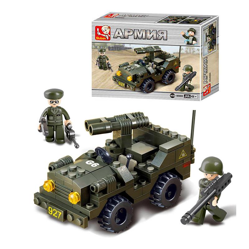 Военный конструктор  Зенитная машина (102 детали)